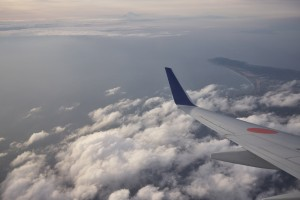 三浦半島の上空