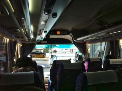 高速バスは快適 JR特急はかなり揺れるらしい