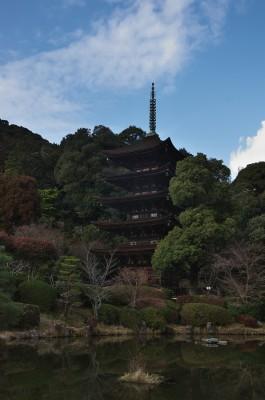 瑠璃光寺の五重の塔(国宝)