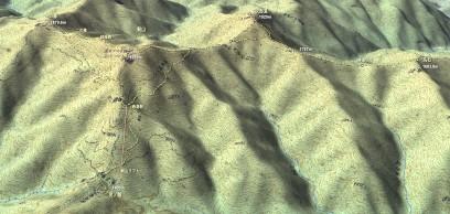 剣山 登山マップ