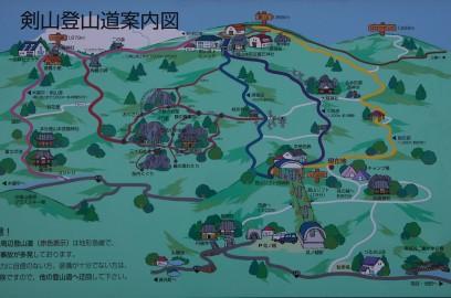 剣山 登山地図