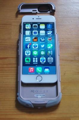 ケースにIPhone6をセット