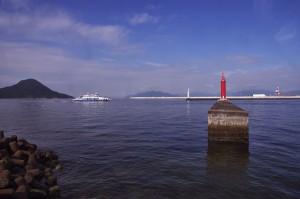 広島港の入口