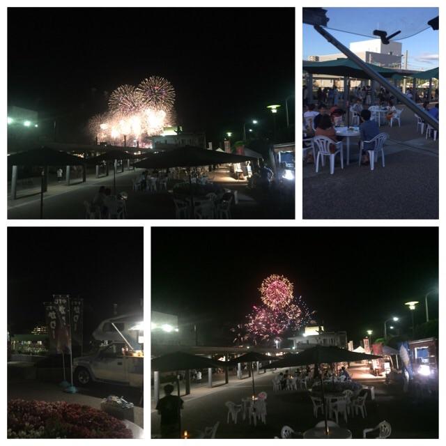 広島港ジグザグ広場からの花火