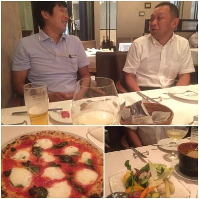 IWAさんOKUさんと食事