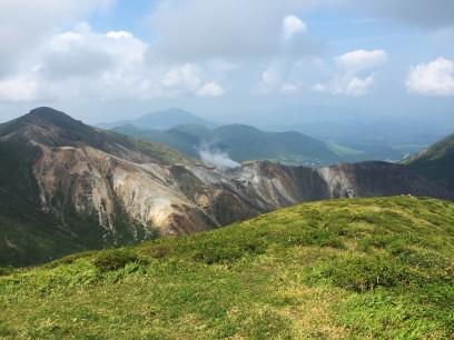 目の前に硫黄山