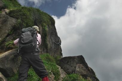 11:37 中岳の登り