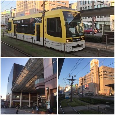 鹿児島中央駅から市役所前まで市内電車で