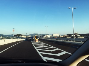 広島高速から側道へ