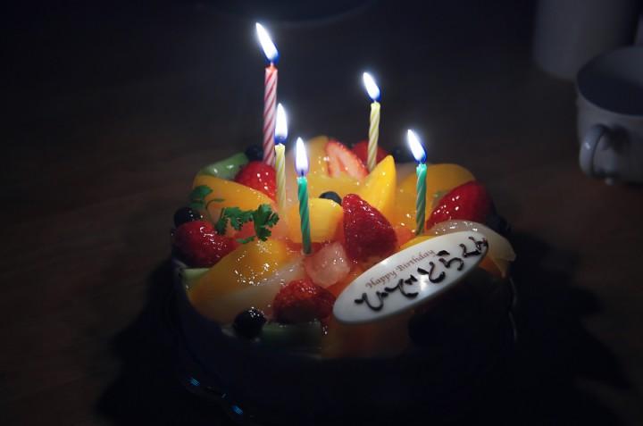 秀虎 14歳の誕生日 帰りに近くのケーキ屋さんで購入