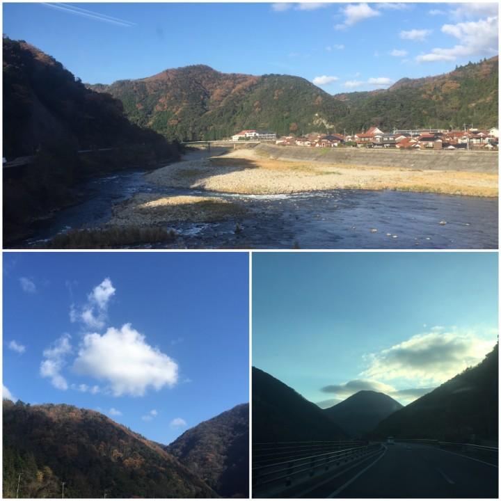 山と川が綺麗