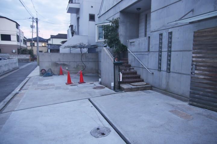 三回に分けて打設したコンクリートが終わった