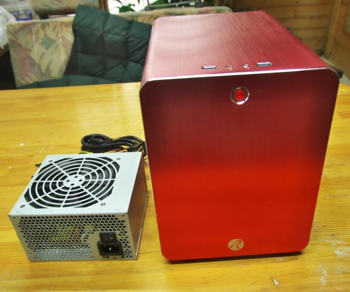 電源 KRPW-L5-400W/80+ ケースMini ITX  METIS Red