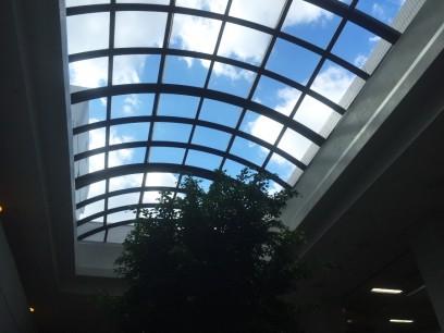 ロービーの天窓、日赤は改修中