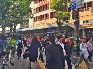 広島駅周辺も混雑
