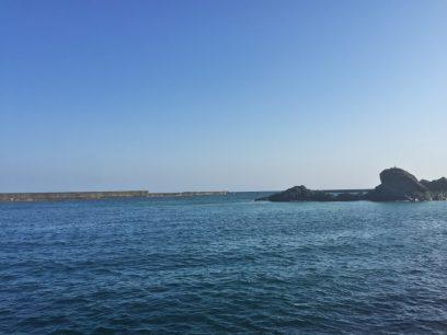 江津の海岸 日本海は穏やか