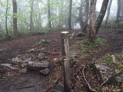 10:06 比婆山 御陵に到着 ガスは晴れない