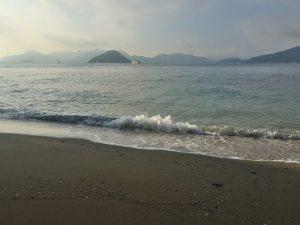 広島湾は穏やか