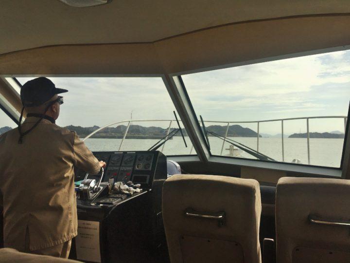 社有船のクルーザーで見島に