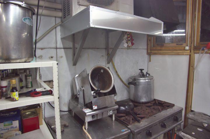 アルミ板でレンジフードを製作