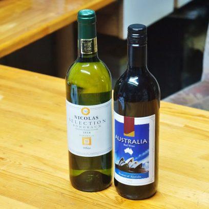 NGIさんから白ワイン、SEOさんから赤ワインを頂きました
