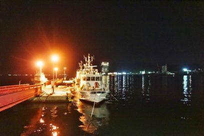海上保安庁の船が係留