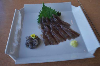 滑川でホタルイカの刺身