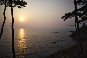 越前海岸の夕焼け